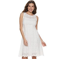 Women's Apt. 9® Medallion Lace Fit & Flare Dress