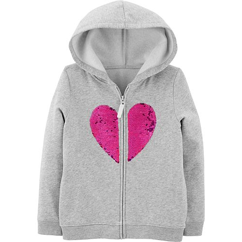 Carters Girls Fleece Zip-Up Hoodie