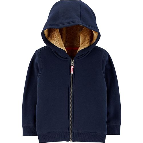 Baby Boy Carter's Zip-Up Fleece-Lined Hoodie