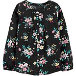 Girls 4-12 Carter's Floral Viscose Top