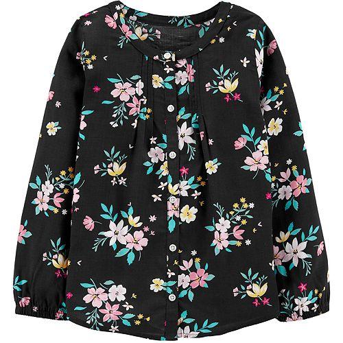 Girls 4-12 Carter's Floral Viscose Top