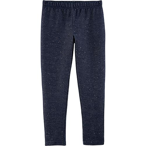 Girls 4-12 Carter's Sparkly Knit Denim Leggings