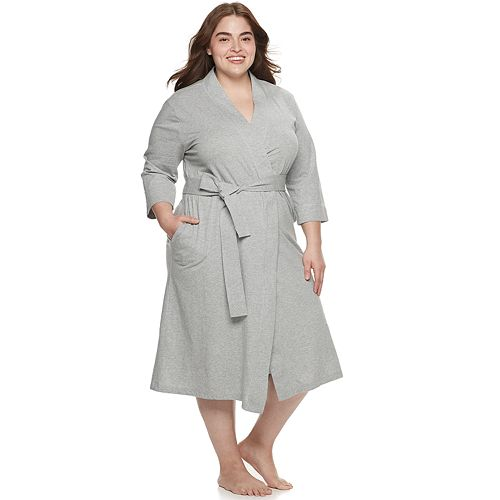 Plus Size Jockey® Everyday Essentials Long Wrap Robe