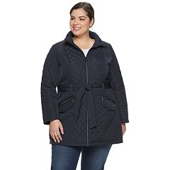 Plus Size Gallery Belted Quilted Jacket