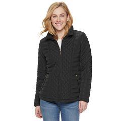 Women's Gallery Zip-Front Quilted Jacket