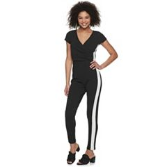 Juniors' Almost Famous Frame Wrap Jumpsuit