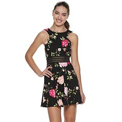 Juniors' Speechless Floral Fit & Flare Dress