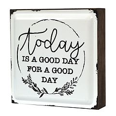 New View Gifts 'Today is a Good Day' Enamel Caption Box Table Decor