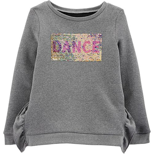 Girls 4-12 Carter's Flip Sequin Dance Fleece Sweatshirt