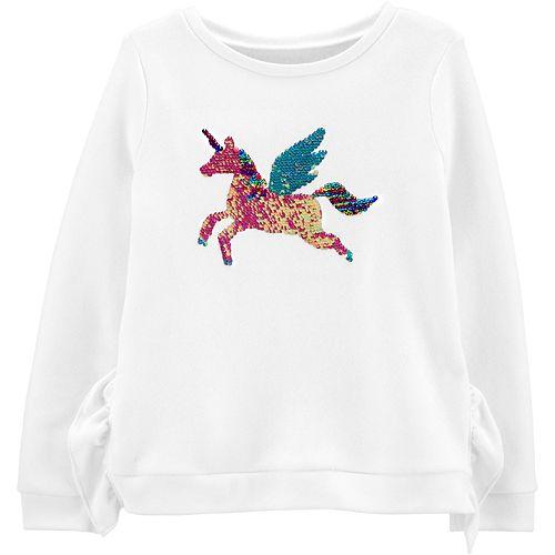 Girls 4-12 Carter's Flip Sequin Pegasus Fleece Sweatshirt
