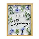 "New View Gifts ""Hello Spring"" Shadowbox Wall Art"