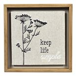 """New View Gifts """"Keep Life Simple"""" Embroidered Wall Decor"""