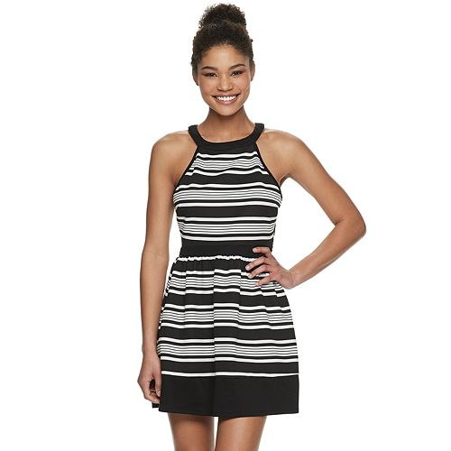 Juniors' Speechless Striped Skater Dress