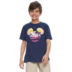 Disney's Mickey Mouse Boys 8-20 Navy Blue Graphic Tee by Family Fun