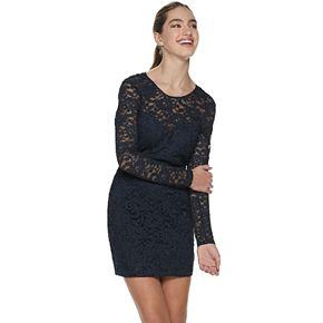 Juniors' Speechless Lace Bodycon Dress