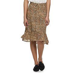 Juniors' Joe B Ruffled Hem Midi Skirt