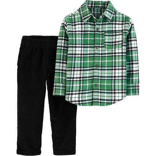 Baby Boy Carter's 2-Piece Plaid Button-Front Top & Corduroy Pant Set
