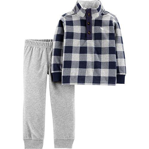 Baby Boy Carter's 2-Piece Plaid Fleece Pullover & Joggers Set