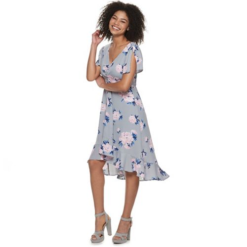 Juniors' Candie's® Ruffled Floral Midi Dress