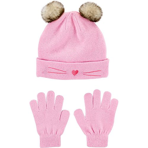 Girls 4-14 Carter's 2-Piece Cat Hat & Glove Set