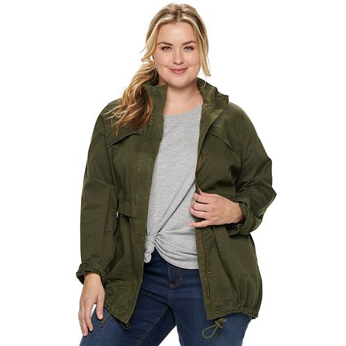 152dd97e3b732 NEW! Plus Size SONOMA Goods for Life™ Utility Jacket