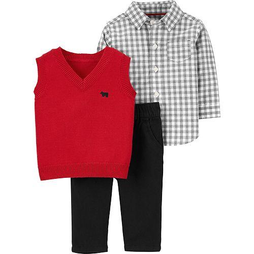 Baby Boy Carter's Red Vest Dressy Set