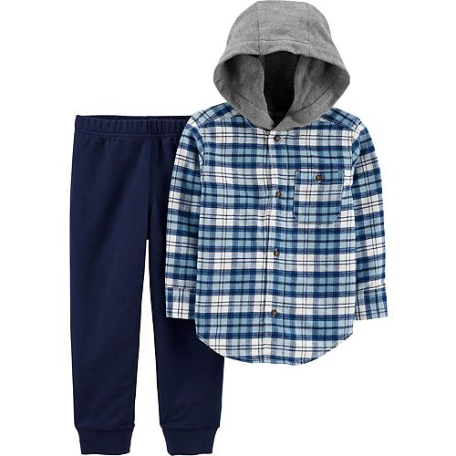 Baby Boy Carter's 2-Piece Plaid Flannel & Joggers Set