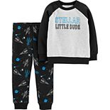Baby Boy Carter's 2-Piece Stellar Little Dude Pullover & Space Joggers Set
