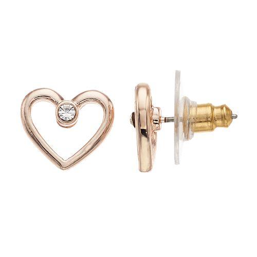 LC Lauren Conrad Open Heart Stud Earrings