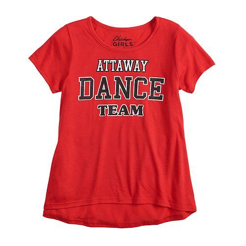 """Girls 7-16 Chicken Girls """"Attaway Dance Team"""" Graphic Tee"""