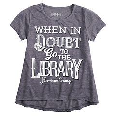 79386ff26b9 Girls 7-16 Harry Potter Hermione Granger  Library  Graphic Tee