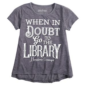"Girls 7-16 Harry Potter Hermione Granger ""Library"" Graphic Tee"