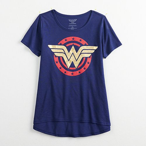 Girls 7-16 Wonder Woman Logo Graphic Tee