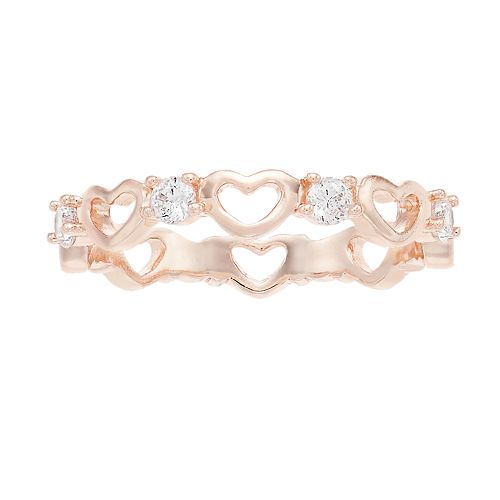LC Lauren Conrad Simulated Crystal & Heart Ring