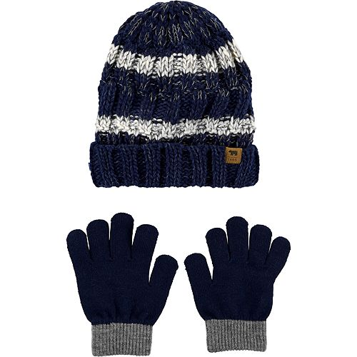 Boys 4-7 Carter's Knit Gloves & Hat Set