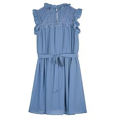 af6a87825e2f Girls Blue IZ Amy Byer Kids Sleeveless Dresses