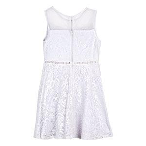 Girls 7-16 IZ Amy Byer Fit & Flare Illusion Neckline Dress