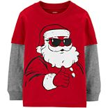 Toddler Boy Carter's Santa Mock Layer Graphic Tee