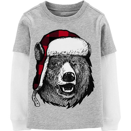 Toddler Boy Carter's Winter Bear Layered-Look Tee