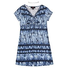 3904a08ff75 Girls 7-16 IZ Amy Byer Printed Shirt Dress   Necklace Set