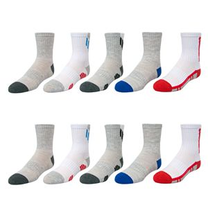 Boys Tek Gear® 10-Pack Lightweight Quarter-Cut Performance Socks