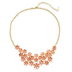 Napier Flower Frontal Necklace