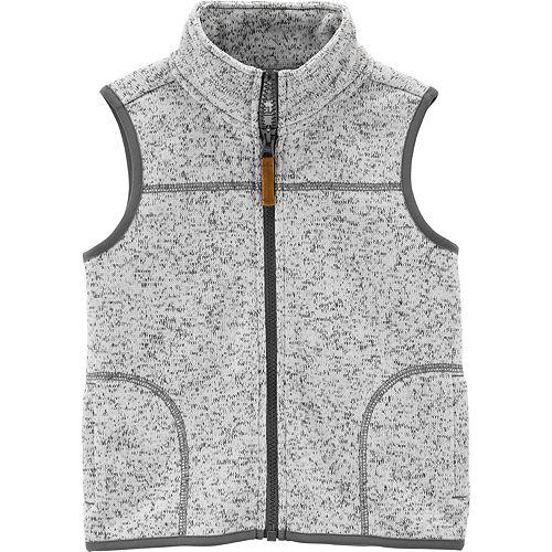 Toddler Boy Carter's Zip-Up Sherpa Vest