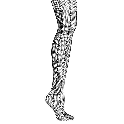 17e574107 Plus Size Hanes Curves Striped Fishnet Tights