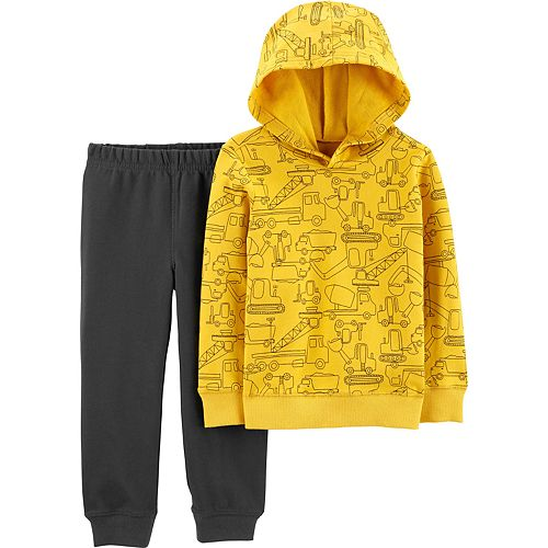 Toddler Boy Carter's 2-Piece Construction Pullover Hoodie & Joggers Set