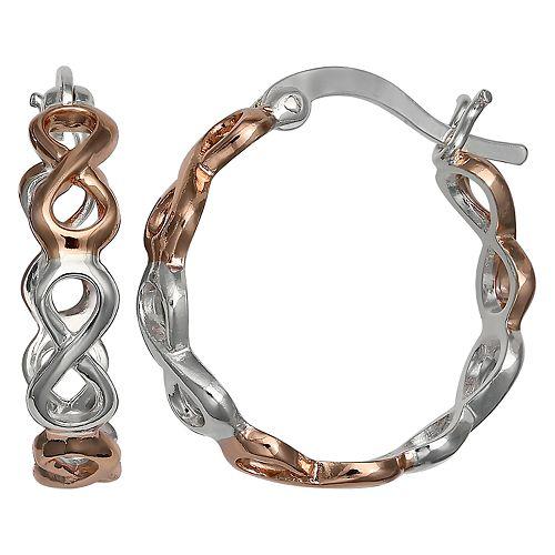 PRIMROSE Two-Tone Infinity Hoop Earrings
