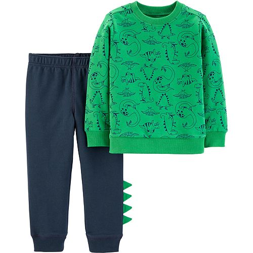 Toddler Boy Carter's 2-Piece Dinosaur Pullover & Joggers Set
