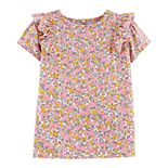 Toddler Girl OshKosh B'gosh® Floral Ruffled Top