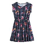 Girls 7-16 & Plus Size SO® Roll Cuff Tie Waist Dress