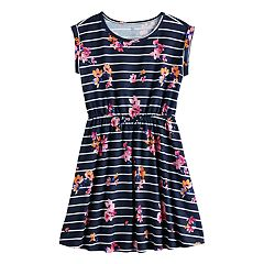 668d191af Girls 7-16 & Plus Size SO® Roll Cuff Tie Waist Dress